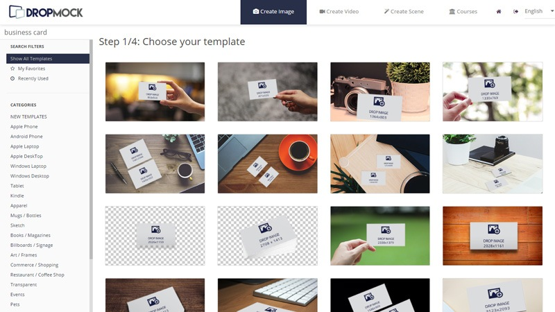 the best way to create your own business card mockup