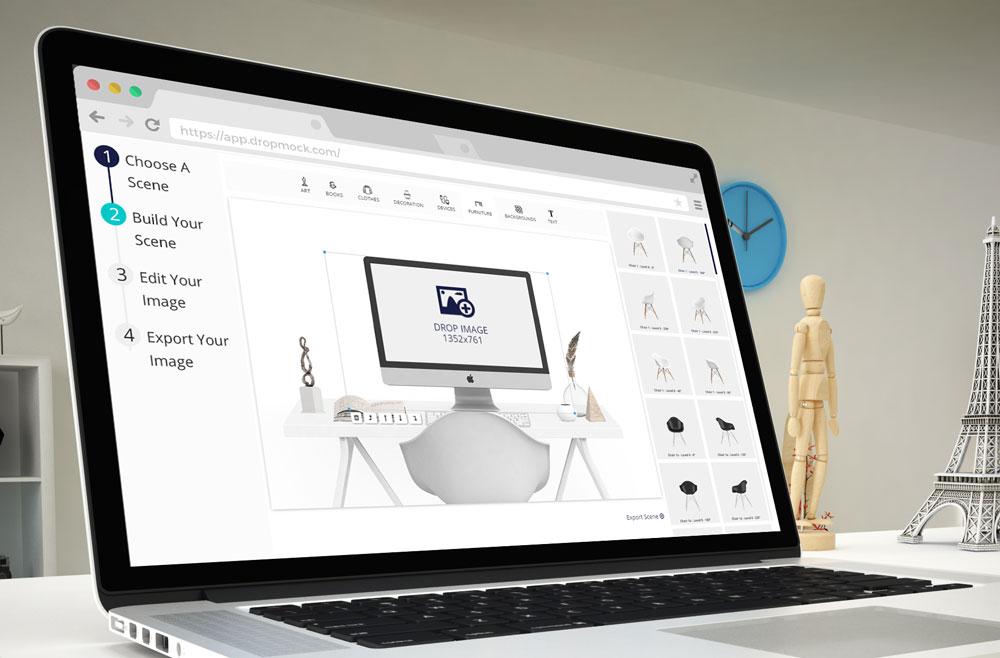 DropMock-iMac-Mockup-Scene-Creator